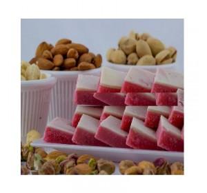 Kaju Strawberry Barfi - Sampradaya Sweets